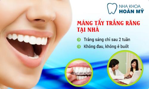 Dùng máng tẩy trắng răng tại phòng nha có gì khác biệt 2