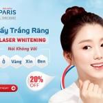 Tẩy trắng răng Laser Whitening – Đánh bật ố vàng nhanh chóng