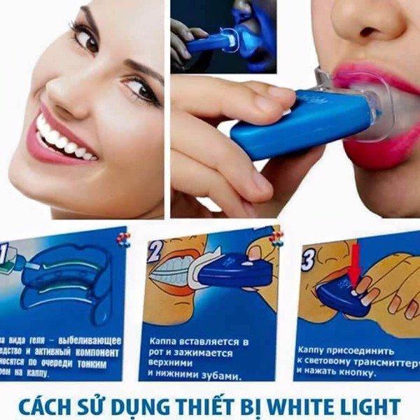Cách sử dụng máy làm trắng răng White Light tại nhà