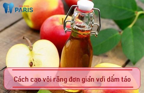 Sử dụng dấm táo là cách cạo vôi răng hiệu quả khá cao