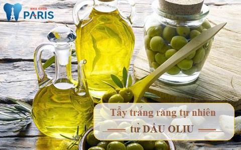Phương pháp tẩy trắng răng tự nhiên từ dầu oliu