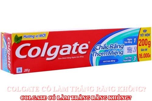 Kem đánh răng colgate liệu có công dụng làm trắng răng? 1