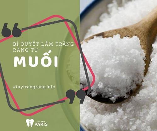 Bí quyết làm trắng răng tại nhà cực đơn giản với muối