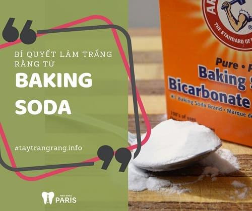 bí quyết làm trắng răng với baking soda