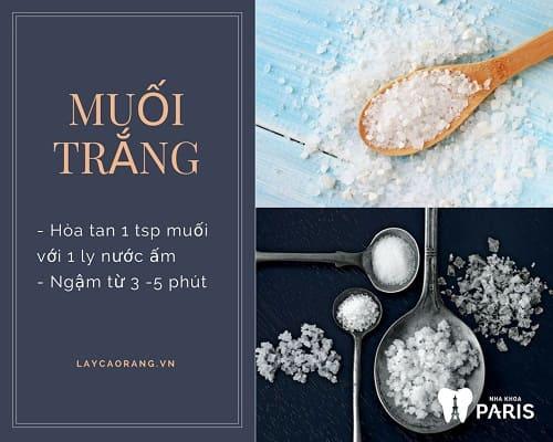 Cách chữa hôi miệng Tại Nhà đơn giàn bằng muối