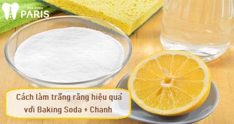 Cách làm trắng răng bằng baking soda và chanh hiệu quả