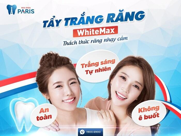 Tẩy trắng răng có tốt không? Tẩy trắng răng WhiteMax cho răng trắng sáng tự nhiên