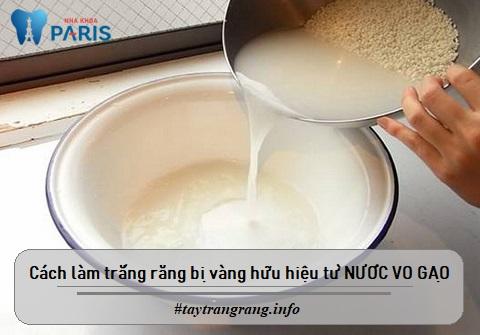 Nước vo gạo có tác dụng tẩy trắng răng khi răng bị ố vàng