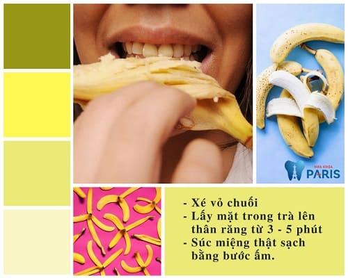 Cách tẩy trắng răng bằng vỏ chuối chín