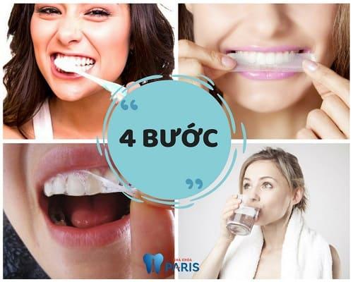 4 Bước sử dụng miếng dán trắng răng Crest