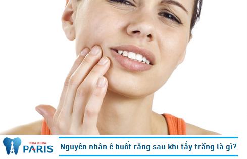Cần xác định nguyên nhân ê buốt răng sau khi tẩy trắng để khắc phục hiệu quả