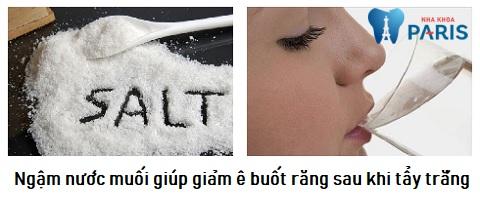 Khắc phục răng ê buốt răng sau khi tẩy trắng nhờ ngậm nước muối
