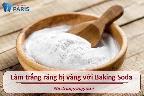 Sử dụng baking soda là cách làm trắng răng bị vàng hiệu quả